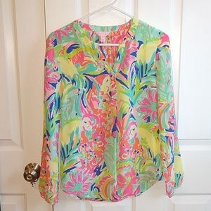 Long Sleeve Lilly Pulitzer Shirt // NWOT